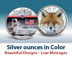 Silver Coins in color