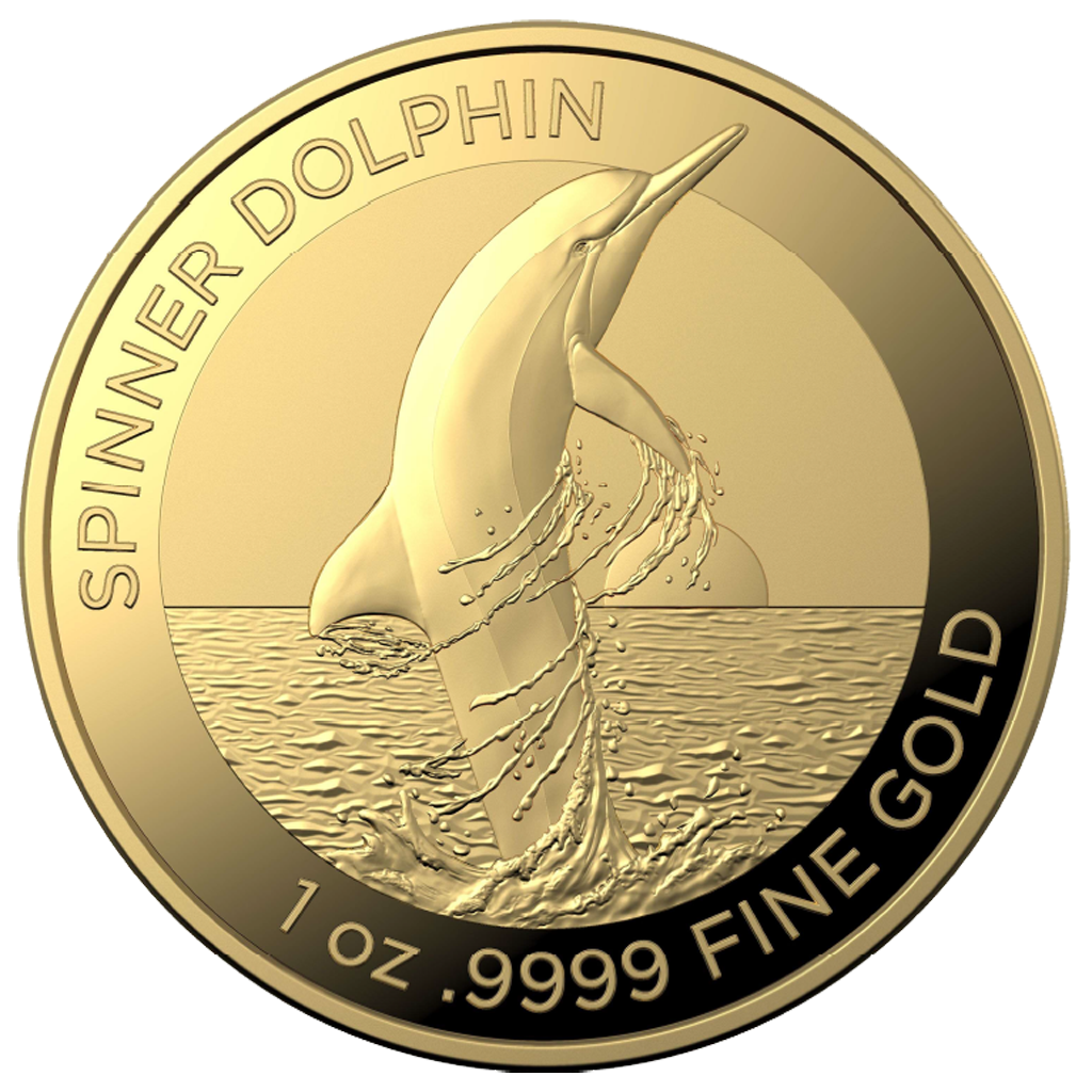 2020 Australia Spinner Dolphin 1 oz Silver BU with Capsule