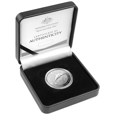 2019 Australia 1 Oz Royal Australian Mint Dolphin .999 Silver Coin