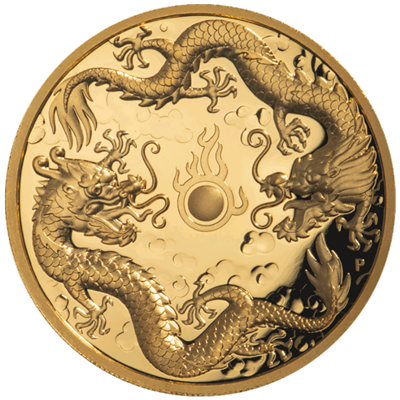 2 dragons gold coin
