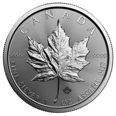Maple Leaf 30th Anniversary Canada 5 Dollars real 1 Oz Silver Coin UNC 2018