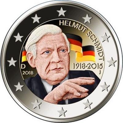 Helmut Schmidt 2 Euro Münzen Erhältlich Bei Emkcom