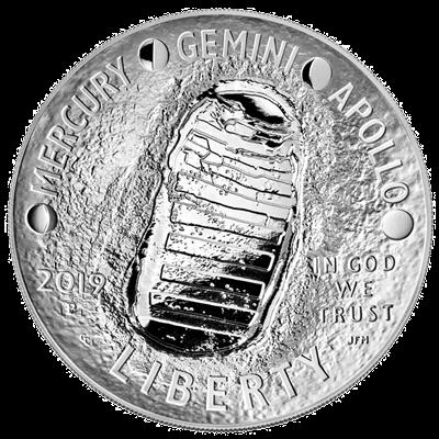 Low Mintage Lot of 5-2019 1oz Silver Moon Landing 50th Anniversary BU