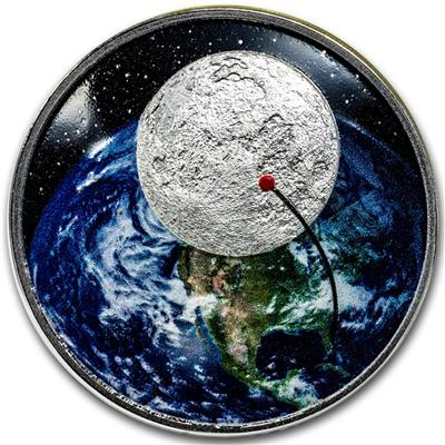 50 Jahre Mondlandung Jubiläums Münzen Emkcom